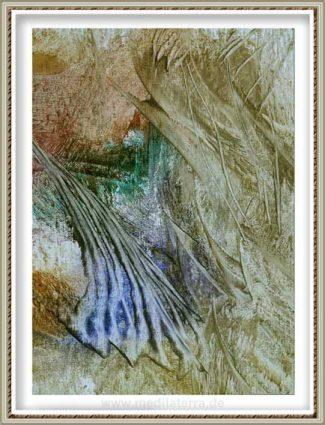 Ruth Helena Fischer 12, Italy, FRILLS, mixed technics on canvas, 21 x 29,7 cm , 2017