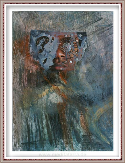 Ruth Helena Fischer 20, Italy, STRANGE, mixed technics on canvas, 21 x 29,7 cm , 2017