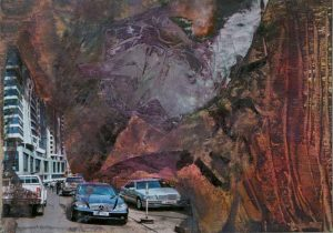 Ruth Helena Fischer 2, Italy, LAST CARS, mixed technics on canvas, 29,7 x 21 cm , 2017