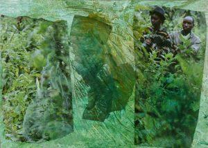 Ruth Helena Fischer 3, Italy, IN FLIGHT 1, mixed technics on canvas, 29,7 x 21 cm , 2017