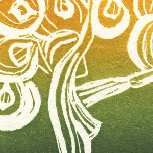 """Detail aus dem Bild """"Green Woman Tree"""" der türkischen Künstlerin Tülay Öktem"""