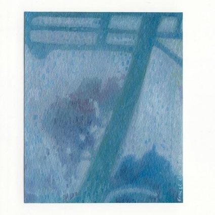 Ernest Chan 1, Singapore, A Fleeting Glance 1, 2016, Oil Paint on Primed Paper, 13 x 11 cm