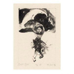 Adam Czech 1, Poland, Balet Nice, Algraphy, 12 x 8 cm