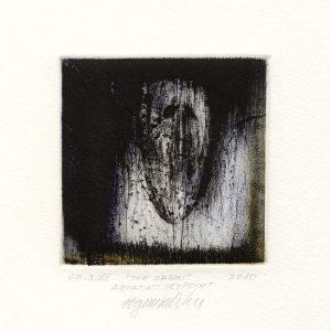 Agim Salihu 1, Kosovo, THE DAWN, 2010, Aquatint Dry Point, 10 x 10 cm