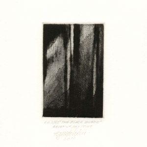 Agim Salihu 10, Kosovo, THE BLACK WINDOW, 2011, Aquatint Dry Point, 10 x 6.5 cm