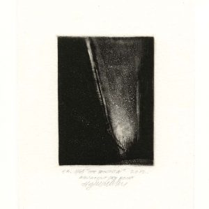 Agim Salihu 15, Kosovo, THE WINDOW, 2012, Aquatint Dry Point, 10 x 7 cm