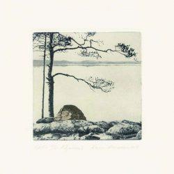 Anna Arminen 1, Finland, Chirrup, 2017, Polymeregravure, 10 x 10 cm