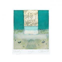 Barbara Niscior 1, Poland, Gravitation, 2018, Acrylic, 8,8 x 7,9 cm