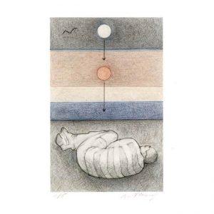 Bie Flameng 1, Belgium, Dream 1, 2017, Digital Print, Mixed Media, 8,4 x 13 cm