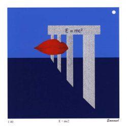 Carl Emanuel Mark 1, Sweden, E=mc2, 2017, Mix. Teck. Digital Print, 14 x 14 cm