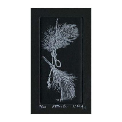 Christiane Roy 1, Canada, Attache, 2016, Engraving (Burin), 11,5 x 5,5 cm