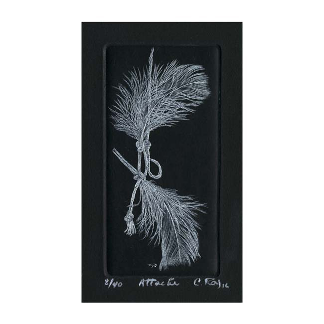 Christiane Roy 1, Canada, Attache, 2016, Engraving (Burin), 11,5 x 5,5 cm