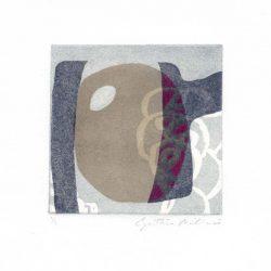Cynthia Milionis 1, USA, Untitled, 2016, Mixed Media, Monoprint,10 x 10 cm