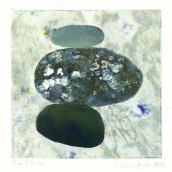 Elina Autio 1, Finland, Light , Heavy 1, 2018, Monotype, 14 x 14 cm