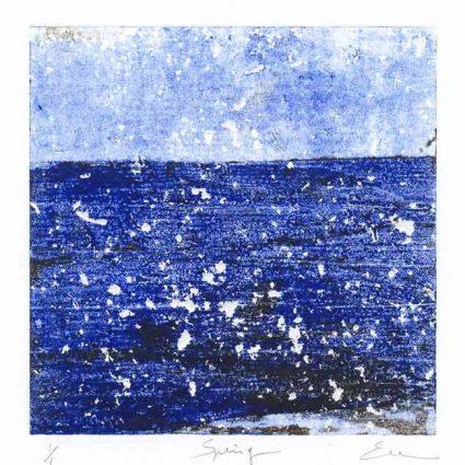 Emmanuel Monzies 1, France, Spring, 2018, Monotype, 19 x 19 cm