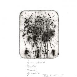 Eve Clair 1, France, Je Suis Désolée, Pardon, Merci, Je t'aime, 2015, Dry Point, 10 x 8,5 cm