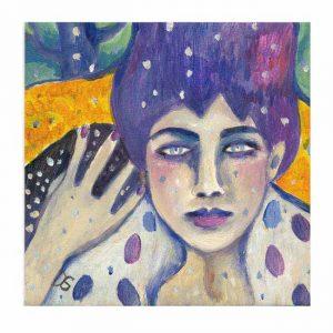 Gabi Domenig 2, Austria, No Ordinary Love, Painting, Acrylic on Paper, 14 x 14 cm