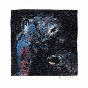 Gabriela Bittner-Krainz 1, Austria, At Sea, 2107, Acrylic, 14 x 14 cm