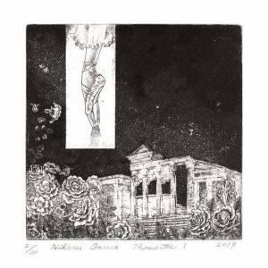 Hikaru Omura 1, Japan, Romantic 1, 2017, Etching, 13 x 13 cm