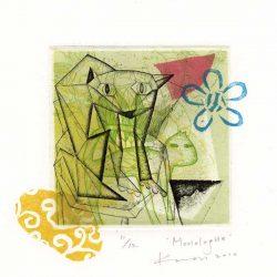 Hyejeong Kwon 1, Korea, Monologue 1, 2010, Etching, Linocut, 13,5 x 12,5 cm