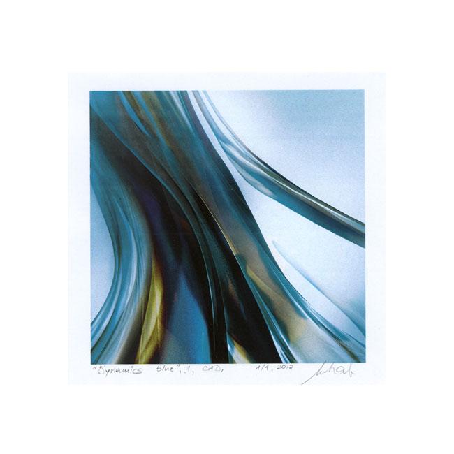 Iosif Mihailo, 1, Romania, Dynamics Blue, 2017, CAD, 10 x 10 cm