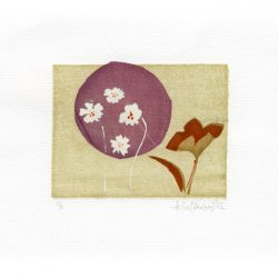 Iris Xilas Xanalatos 1, Greece, Spring, 2015, Silk-screen Print by Hand, 8 x 10 cm