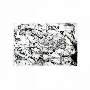 Isamudin Ahmad 1, Malaysia, Memory of Defense, 2018, Engraving, Sugar Leaf, 9 x 14 cm