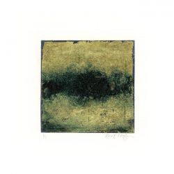 Jane Cooper 1, USA, Gold 1, 2017, Monotype, 8,5 x 8,5 cm