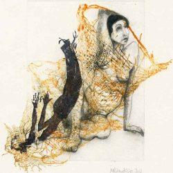 Juttamarie Fricke 1, Germany, A Dream Turns, 2017, Etching Monotype, 19 x 19 cm