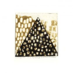 Kathie Pettersson1,Sweden, Pyramid, 2017, Collografi, 10 x 10 cm