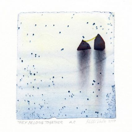 Kelli Valk 1, Estonia, They belong together, 2017, Author´s Technique, 14 x 12 cm