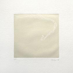 Laura Manfredi 1, Italy, Nowhere Diary #1, 2018, Linocut, 10 x 10 cm