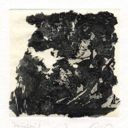 Lidia Paladino 1, Argentina, Variation I, 2018, Etching-Chinècollè, Slurry-Handmade Paper 14 x 14 cm
