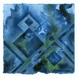 Liliana Dowbley 1, Argentina, Formas Infinitas l, 2017, Acrilico, 15 x 15 cm