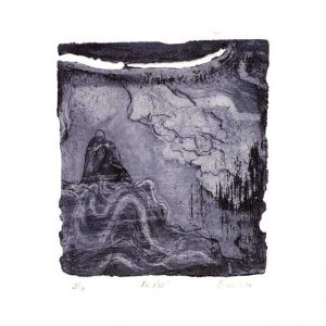 Liliana Rizo 1, Mexico, En Paz, 2017, Aquatint, Etching, Dry point, 11,5 x 10,5 cm