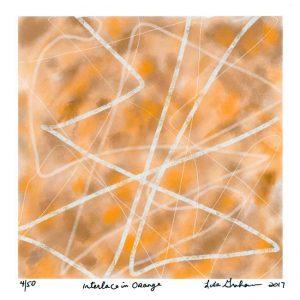 Lisa Graham 3, United States, Interlace in Orange, 2017, Digital Print, 14 x 14 cm
