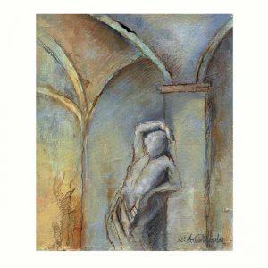 Maria Antonietta Onida 1, Italy, In The Nook, 2017, Oil on Canvas, 12 x 14 cm