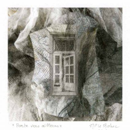 Marie-Paule le Bohec 2, France, Door Towards Somewhere, 2016, Digital Print, 14 x 14 cm