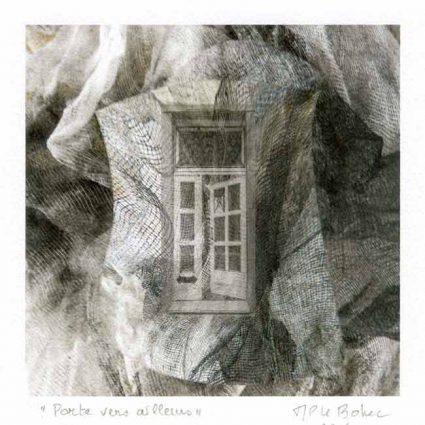 Marie-Paule le Bohec 2, France, Door Towards Somewhere, 2016, Digital Print, 14 x 14 cm