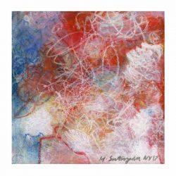 Mira Satryan 2, USA, Confusion, Mixed media, 14 x 14 cm