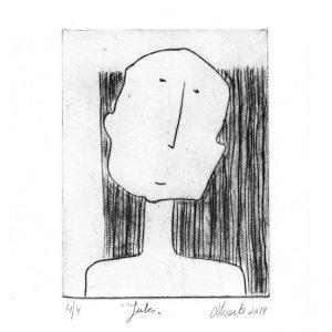 Nicole Zoete 1, Belgium, Jules, 2014, Etching, 10 x 13 cm