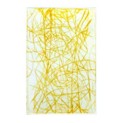 Nyrel Saunders 1, Australia, Rice Paddies, Bali, 2017, Drypoint, 19 x 19 cm