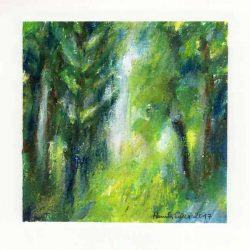 Pamela Ecker 3, Austria, Richness of Garden 3, 2017, Acrylic and Oil Pastel, 13 x 13 cm