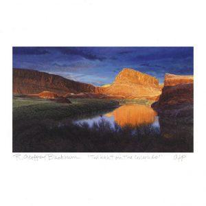 R. Geoffrey Blackburn 1, USA, Twilight on the Colorado, 2014, Pigment Print, 8,2 x 14 cm