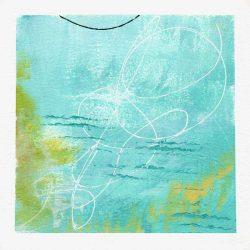 Robin Colodzin 1, USA, Firefly Trails, 2017, Acrylic, 14 x 14 cm