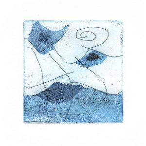 Rowena Božič 1, Slovenia, Haiku, 2017, Etching, Aquatint, 11 x 11 cm