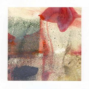 Sandee Johnson 2, USA, Evening Reflection, 2016, Encaustic Monotype, 13 x 13 cm