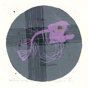 Saskia van Montfort, Netherlands, Anglerfish I, 2017, Silkscreen, 14 x 14 cm