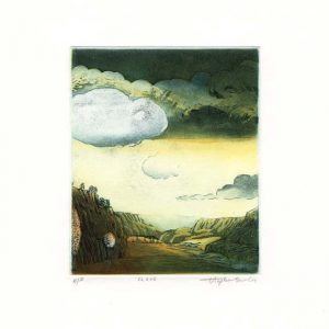 Stephen Lawlor, 19, Ireland, Cloud, Etching, 11 x 9 cm
