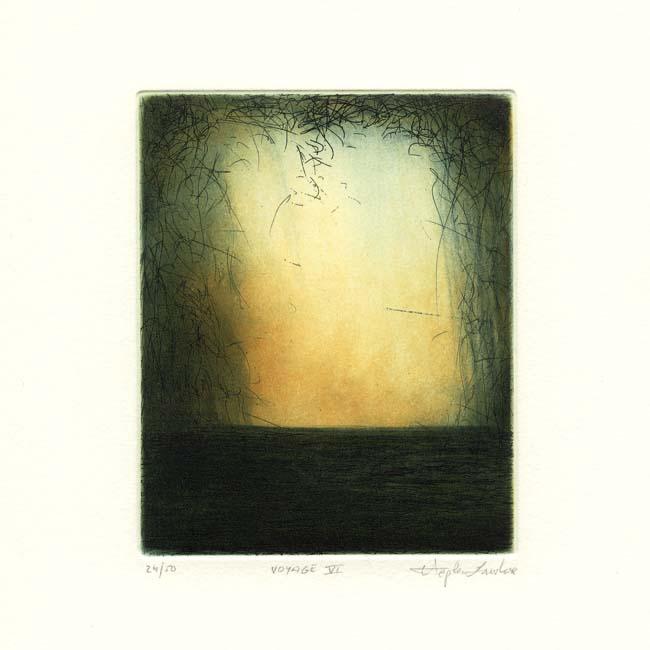 Stephen Lawlor, 20, Ireland, Voyage VI, Etching, 11 x 9 cm